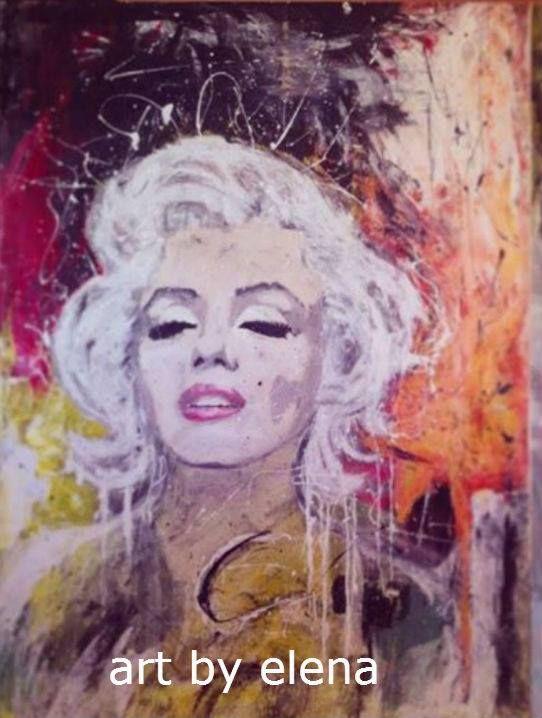 Colorful painting of Marilyn Monroe   Art by Elena N