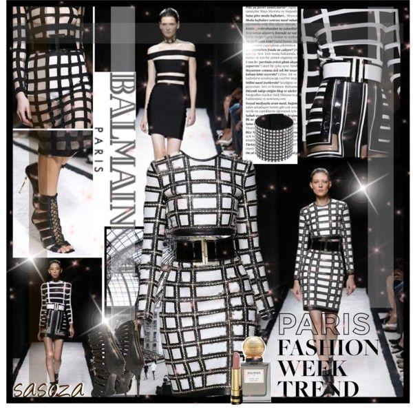 """""""balmain ... s\s15 paris fashion week by Sasoza"""" by sasooza ❤ liked on Polyvore"""