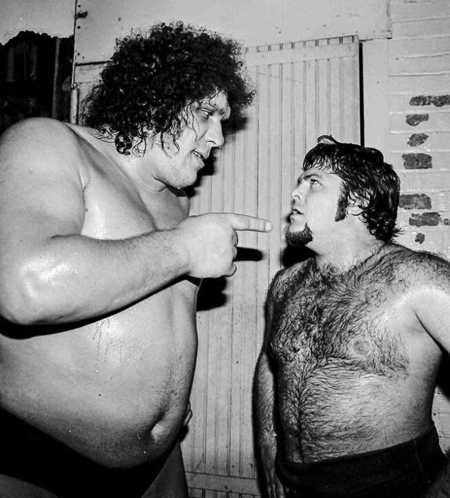 "Andre The Giant and Jerry ""The King"" Lawler"