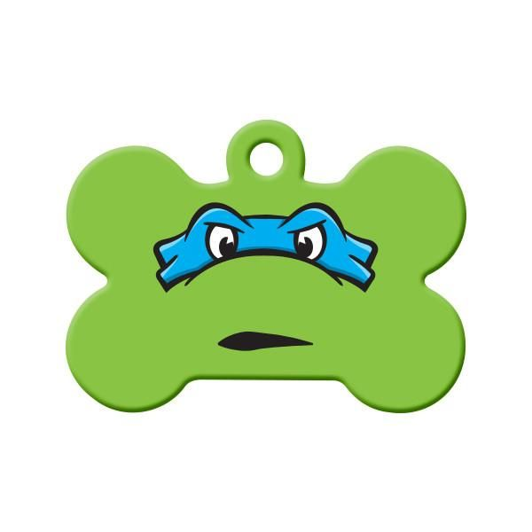 Leonardo TMNT Fan Art Dog Tag - Are you (or your pet) a Teenage Mutant Ninja Turtles fan? If so, then this bright and vibrant tag will look great on their collar…. Heroes in a half shell!