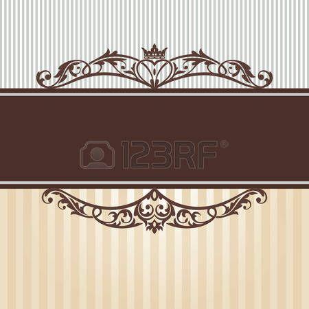 cornici romantiche: astratto annata telaio illustrazione vettoriale