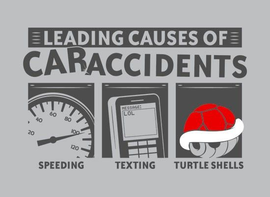 Leading Causes of Car Accidents T-Shirt | SnorgTees