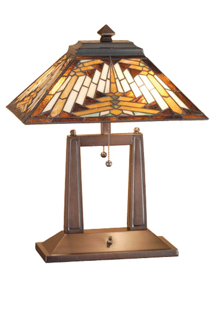 Mission Southwest 20 Inch Nuevo Oblong Desk Lamp By Meyda Lighting 66530