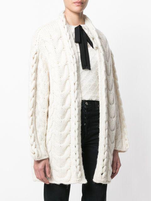 63064522800 Iro Chunky Knit Cardigan - Farfetch   irina.grudule   Knit cardigan ...