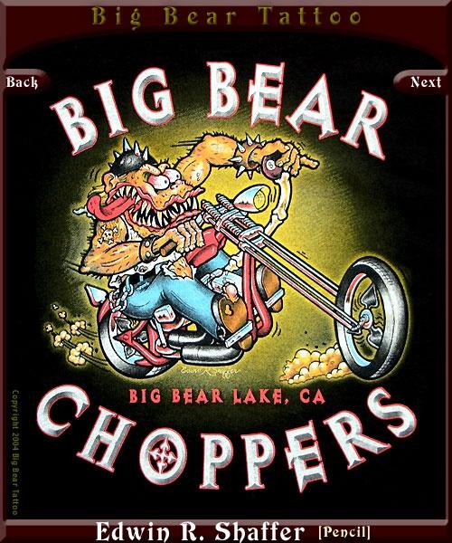 Pencil on Illustration Board by Edwin R. Shaffer - Big Bear Tattoo, 563 Pineknot Ave. (in the Village) Big Bear Lake CA 92315 - (909) 866-8014 WWW.BIGBEARTATTOO.COM