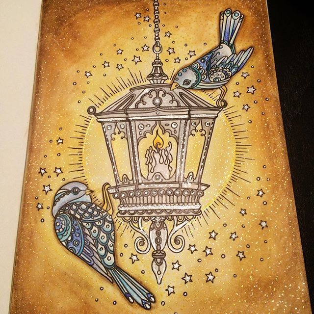 "Hanna Karlzon ""Winterträume"" #hannakarlzon #winterdreams #adultcoloring – #adul …   – Vinterhatt"