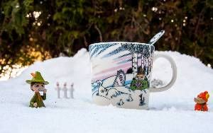 Todays Moomin Mug. Moomin winter mug 2017.