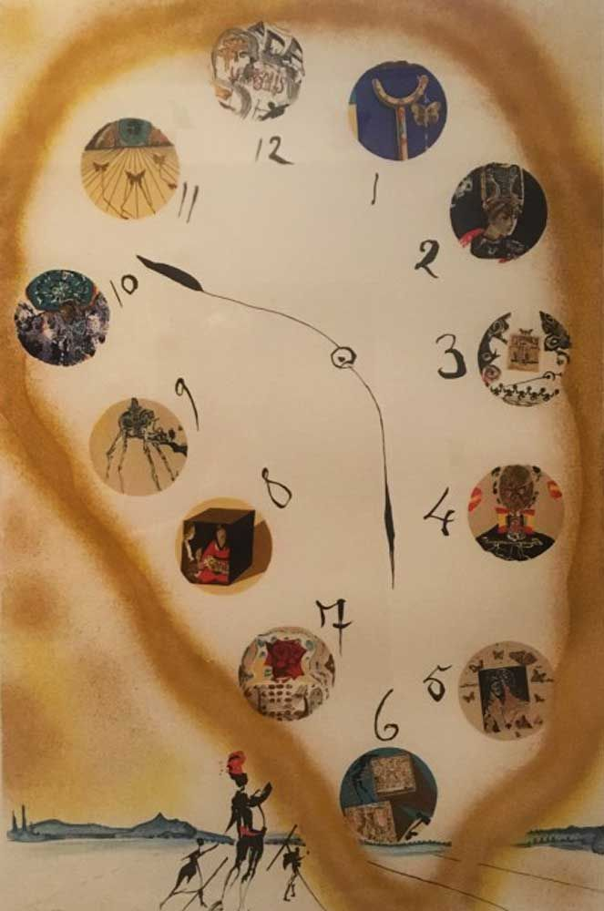 Time And Space AP 1973 by Salvador Dali - Lithograph