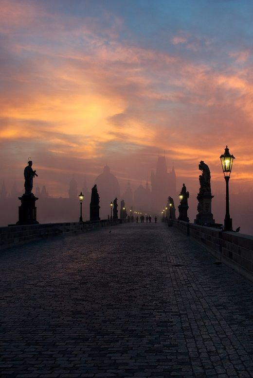 Sunrise, Prague, Czech Republic photo via monica