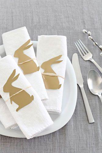 Des ronds de serviette spécial Pâques