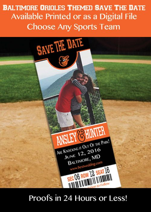 Baltimore Orioles Themed Save the Date by IrresistibleInvites1