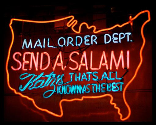 Send a Salami in Neon