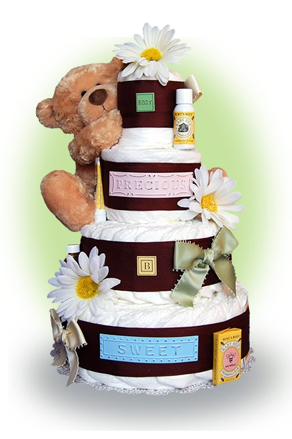 adorable- diaper cakes are the cutest!