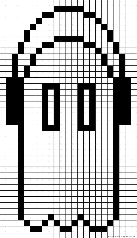 Napstablook Undertale Perler Bead Pattern