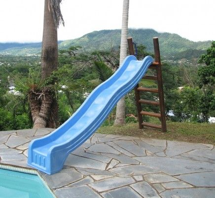 17 best ideas about pool slides on pinterest swimming for Pool platform ideas