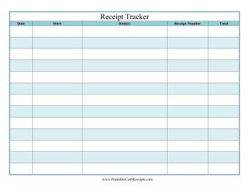 this printable receipt tracker is great for home use and tracks purchases quantities and costs