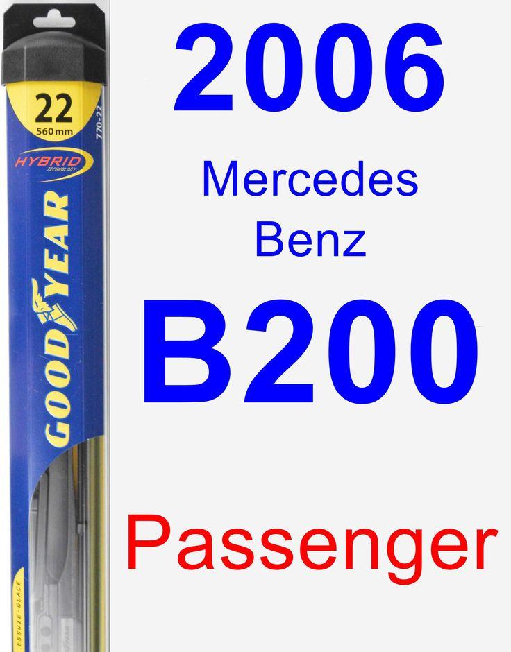 Passenger Wiper Blade for 2006 Mercedes-Benz B200 - Hybrid