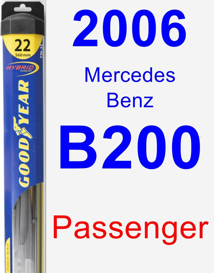 Passenger Wiper Blade for 2006 Mercedes-Benz B200 - Hybrid