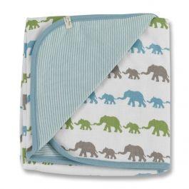 Soooo viele Elefanten :-)... Kleine Babydecke aus zertifizierter Bio-Baumwolle im tollen Elefanten Print.