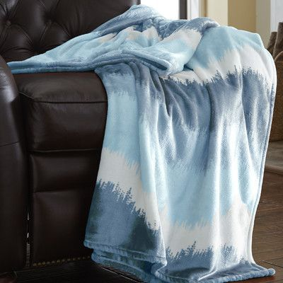 Amrapur Ombre Oversized Luxury Throw Blanket Color: Blue