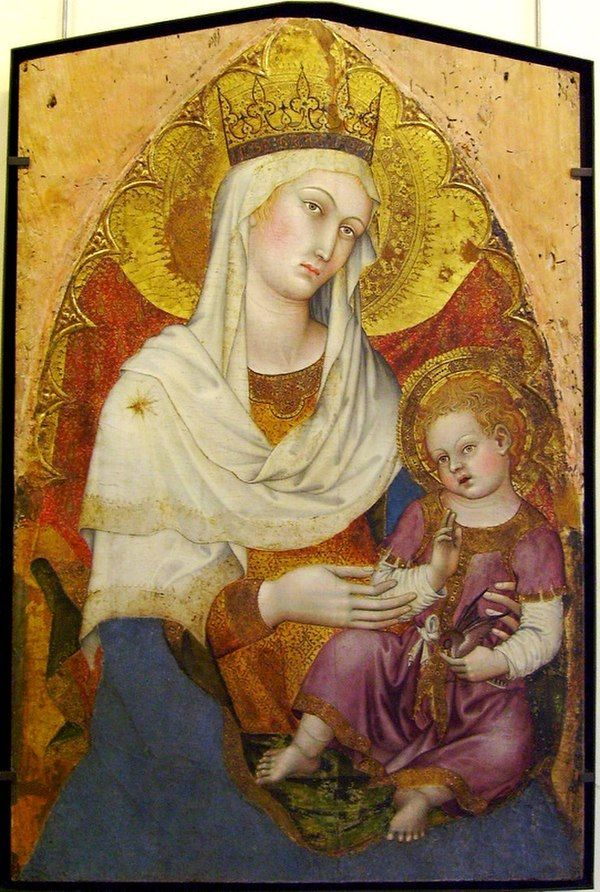 Мосарабский обряд - WikiVisually.  Madonna and Child by Taddeo di Bartolo, 1400