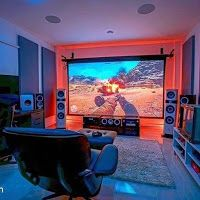 Fun Video Games, Video Game Rooms, Man Cave Video Game Room, Video Game Man Cave Ideas, Home Design, Design Ideas, Gaming Room Setup, Game Room Design, Home Theater Rooms