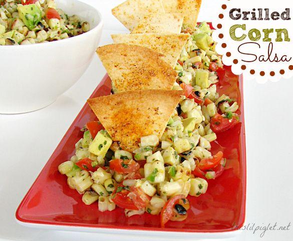 Grilled Corn Avocado Salsa Recipe and Homemade Tortilla Chips