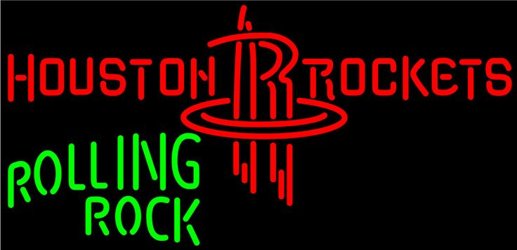 Rolling Rock Houston Rockets NBA Neon Beer Sign, Rolling Rock with NBA Neon Signs | Beer with Sports Signs. Makes a great gift. High impact, eye catching, real glass tube neon sign. In stock. Ships in 5 days or less. Brand New Indoor Neon Sign. Neon Tube thickness is 9MM. All Neon Signs have 1 year warranty and 0% breakage guarantee.