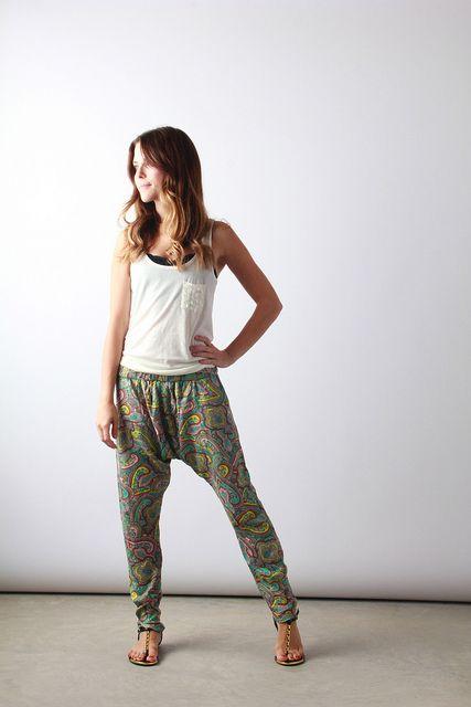 Paisley Harem Pants | Perpetually Chic by laurenhcraig, via Flickr