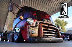 custom 1954 GMC COE, Welderup cars, SEMA Show 2013, diesel rat rod