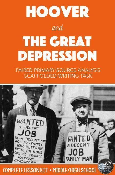 Great depression lesson plans for high school