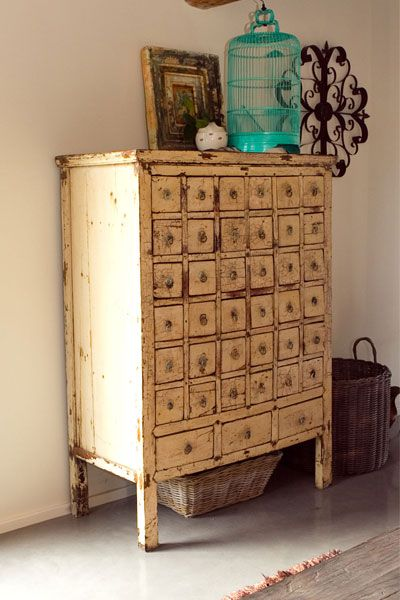 http://www.pinterest.com/joliesarts ∗  »☆Elysian-Interiors ♕Simply divine #Interiordesign ~ Chinese & Asian style Interiors ~ Antique Chinese apothecary medicine cabinet.