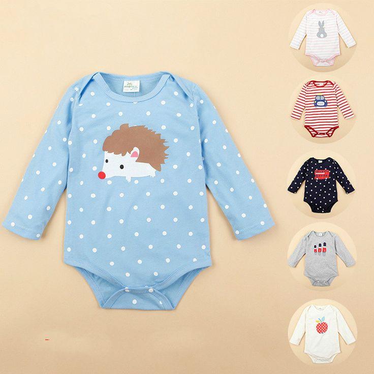 Мода ребенка комбинезон милый мальчик одежда девочку одежды малышей комбинезон…