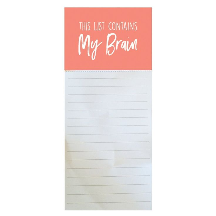 Magnetic Notepad - My Brain