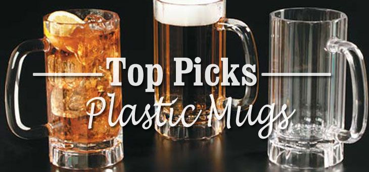 Faves! Durable Plastic Mugs for Beer, Coffee & More - these dishwasher-safe finds are virtually unbreakable and great for busy homes, outdoor dining and on the go.