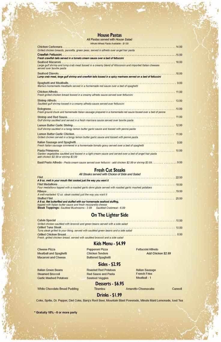 14 best Old Restaurant Menus images on Pinterest | Vintage menu ...