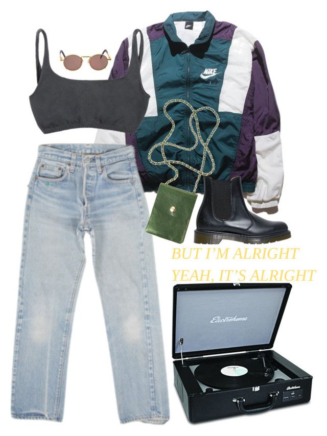 """""""If you like pina colada"""" by vesleku on Polyvore featuring NIKE, Jean-Paul Gaultier, Levi's and Dr. Martens"""