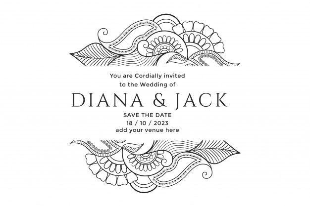 Download Mehndi Floral Decoration Wedding Card Design For Free Floral Wedding Decorations Wedding Card Design Business Card Texture