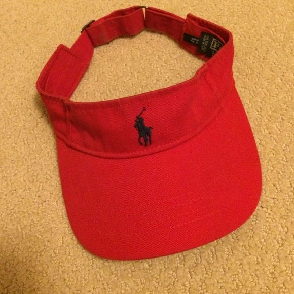 Polo visor Red polo visor Polo by Ralph Lauren Accessories Hats
