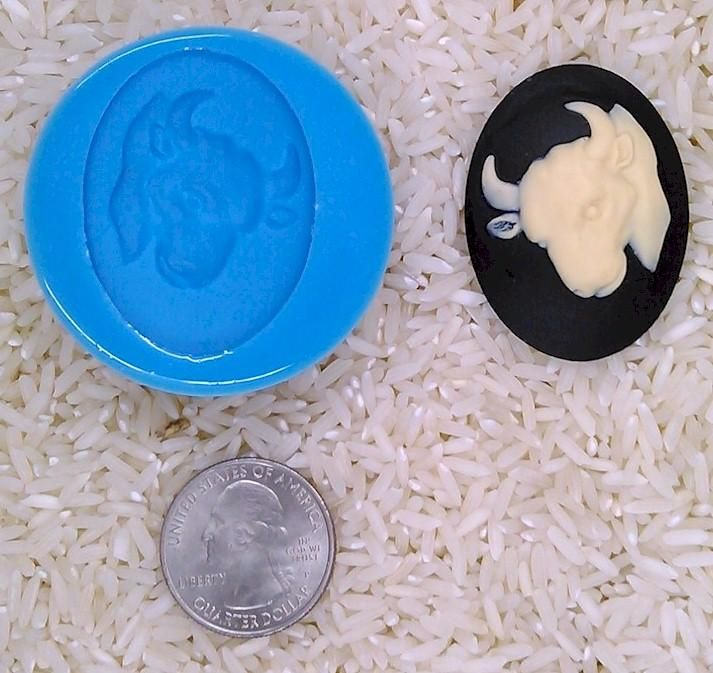 Astrology Zodiac Sign Taurus Bull Food Safe Silicone Cameo Mold for candy soap clay resin wax etc.