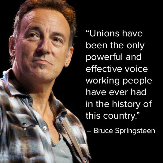 Notice that he said 'unions' and not the government or one of the for-profit political parties.