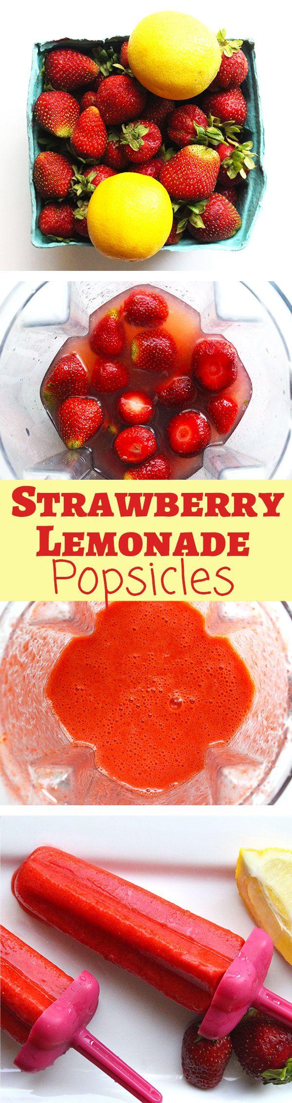 Homemade Strawberry Lemonade Popsicles | Real Fruit & No Added Sugar