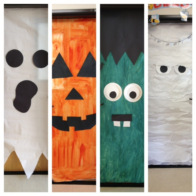 halloween doors at school middle school doors - Cute Halloween Door Decorating Ideas