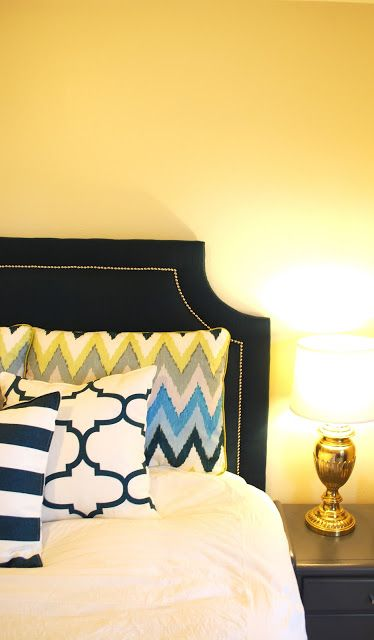Amazing DIY Headboard tutorial and nail head tips