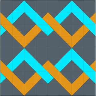The Elven Garden: Desperate House Wives QAL - Woven Chevron Block Tutorial. Then do orange peel quilting because there is already a guide with each square. PERFECT!!!