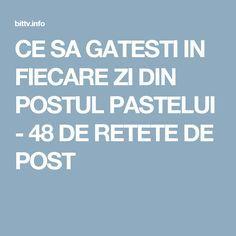 CE SA GATESTI IN FIECARE ZI DIN POSTUL PASTELUI - 48 DE RETETE DE POST