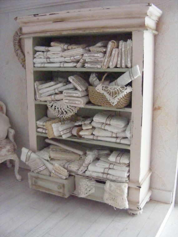 12th scale vintage lace display miniature by shabbychicminis, $199.00