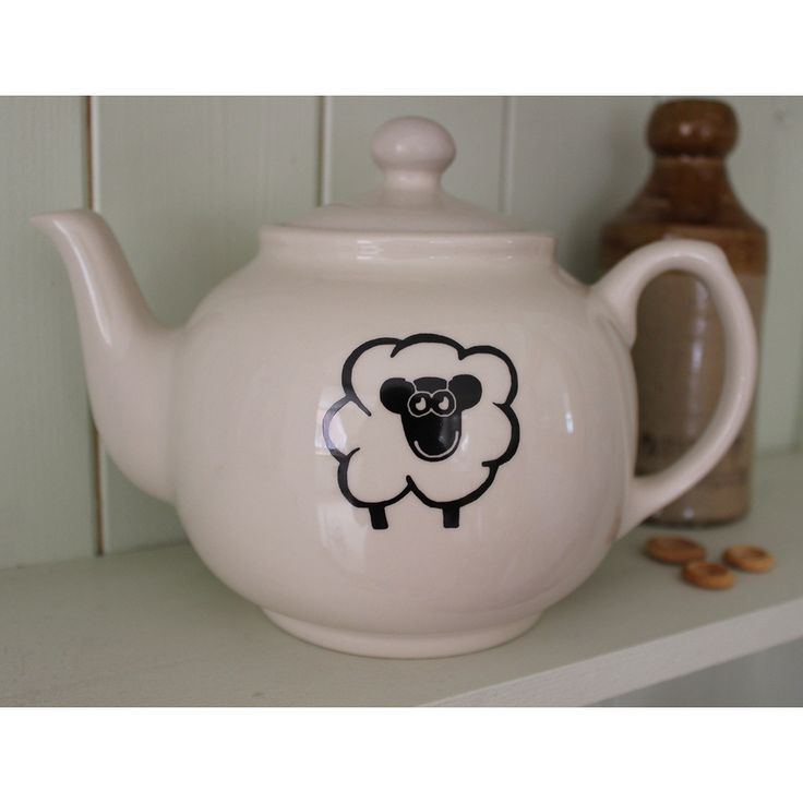 Happy Sheep Tea Pot #gifts #china #mugs #kitchenware