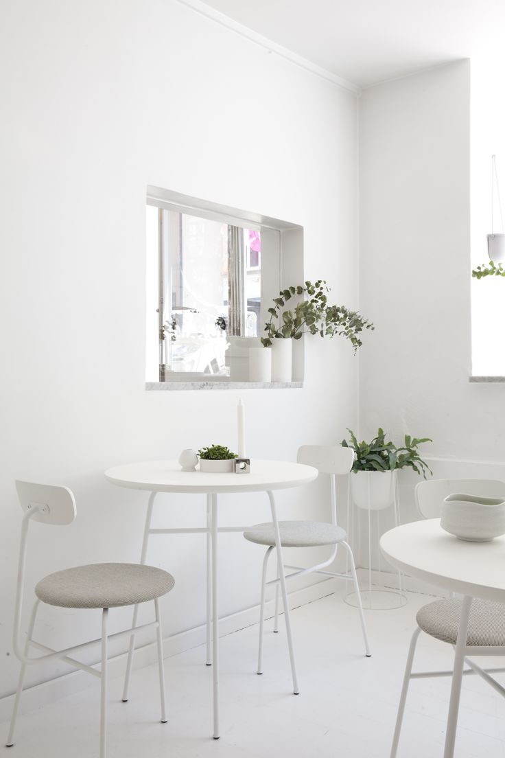 MENU, Afteroom Dining Chair, Afteroom Counter Table, Wire Pot, Cube Candleholder, MENU project