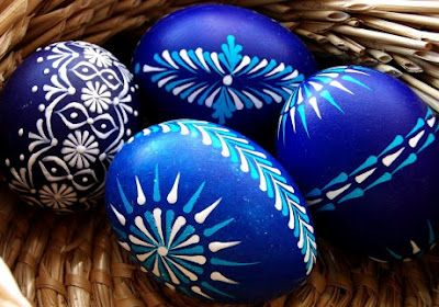 Czech easter egg painting
